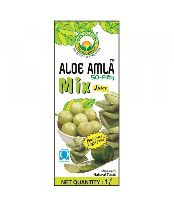 Buy Basic Ayurveda Aloe Amla 50-Fifty Juice at Best Price Online