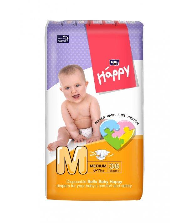 BELLA BABY HAPPY DIAPERS MEDIUM 38 PCS
