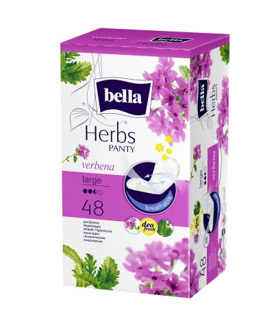 BELLA HERBS PANTYLINERS SENSITIVE WITH VERBENA LARGE 48PCS