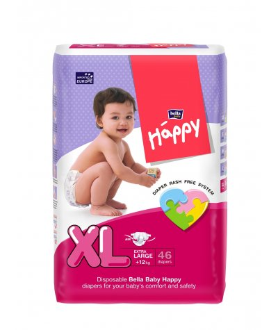 BELLA BABY HAPPY DIAPERS EXTRA LARGE 46 PCS