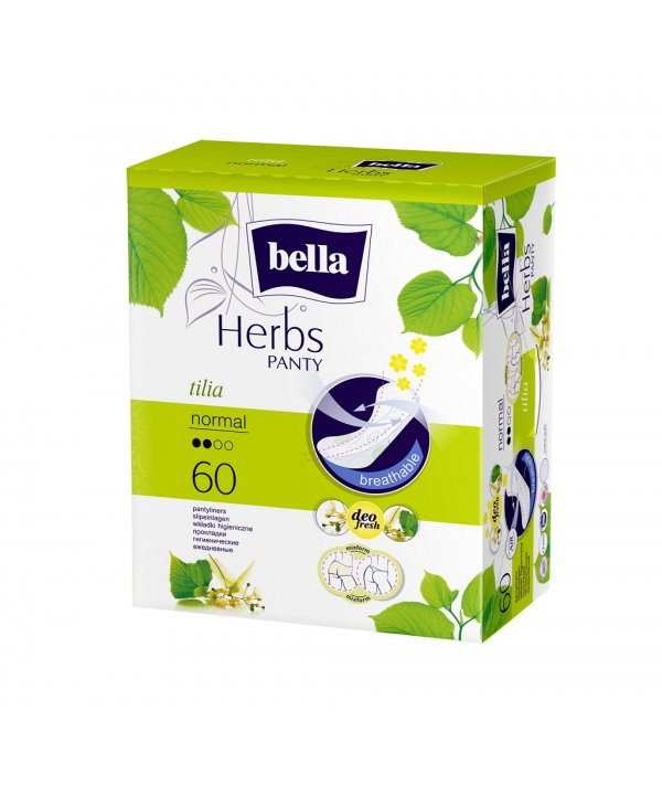 BELLA HERBS PANTYLINERS SENSITIVE WITH TILIA  60PCS