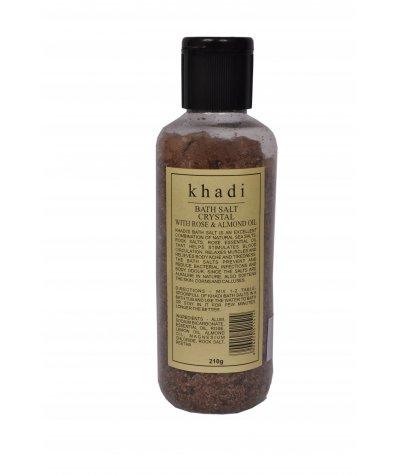 Khadi Bath Salt Crystal with Rose & Almond Oil