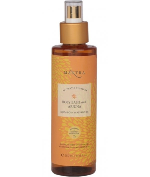 Mantra Holy Basil And Arjuna Kapha Body Massage Oil