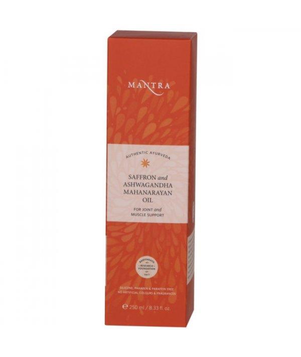Mantra Saffron And Ashwagandha Mahanarayan Oil For Joint And Muscle Support