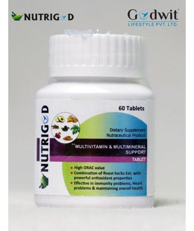 NUTRIGOD MULTIVITAMIN & MULTIMINERAL SUPPORT TABLETS