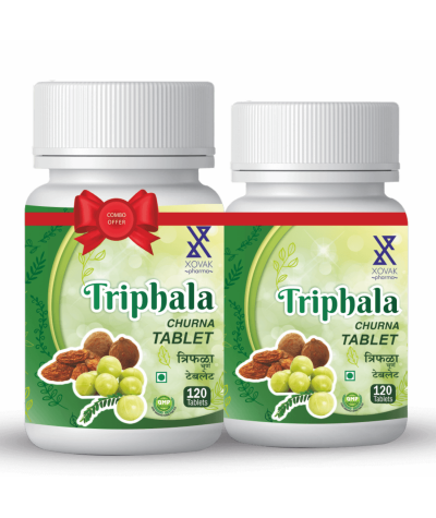 Xovak Pharma Triphala Tablet for Constipation, Acidity, Gas & Cough