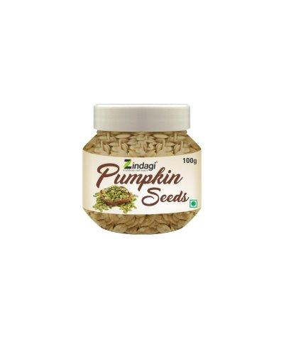 Zindagi Pumpkin Seeds - Immunity Booster Seeds - High in Fiber (200gm) Pack of 2