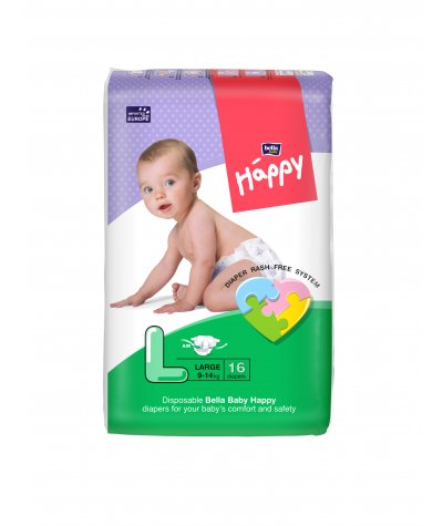 BELLA BABY HAPPY DIAPERS LARGE 16 PCS