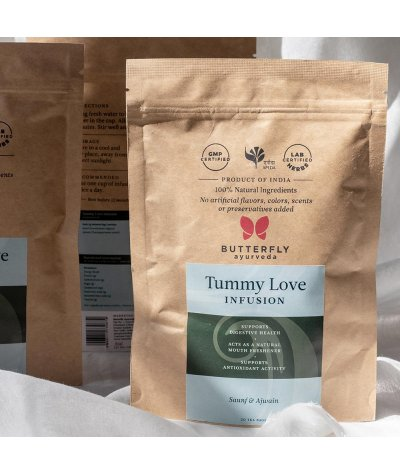 Butterfly Ayurveda Tummy Love Infusion for healthy digestion - 20 tea bags
