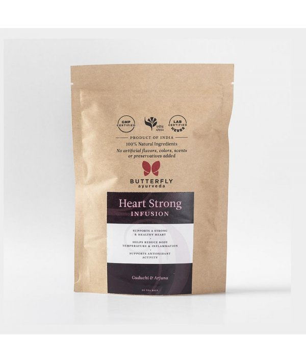 Butterfly Ayurveda Heart Strong Infusion for a healthy heart - 20 Tea Bags