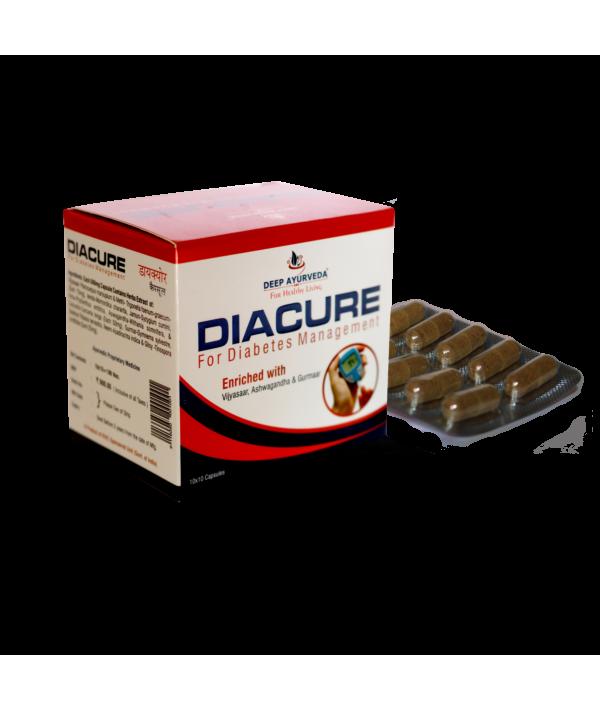 Deep Ayurveda Diacure Capsule Blister packing