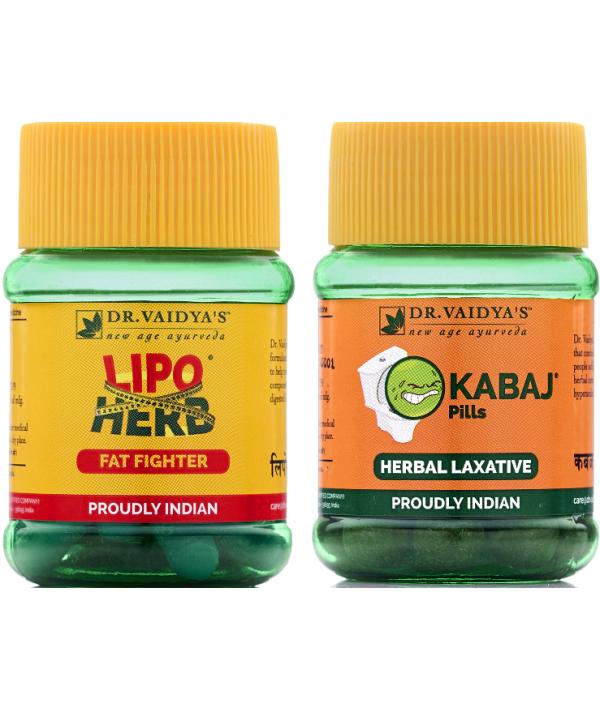 Dr Vaidya - Weight Reduction Pack (Lipoherb - 60 Caspules and Kabaj Pills - 60 Pills)