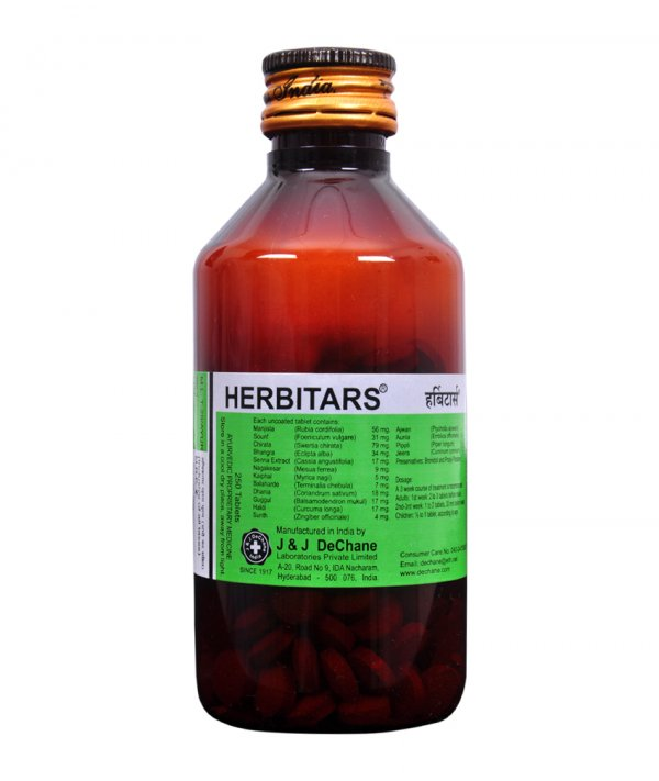 J And J Dechane Herbitars Tablets