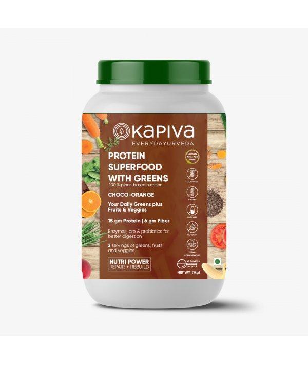 Kapiva Protein Superfood With Greens - Choco Orange