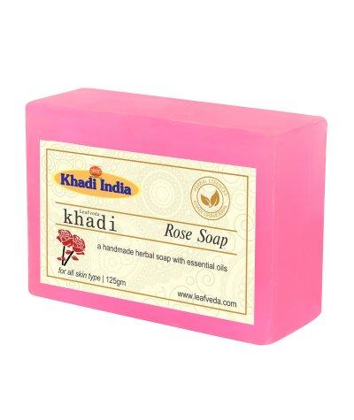Khadi Leafveda Rose Soap