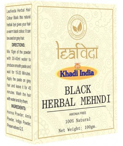 cac2c81b42012 Khadi Leafveda Black Herbal Mehndi Amonia Free