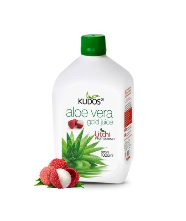Kudos Aloevera Gold Juice Litchi Flavour