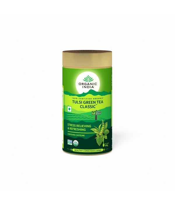 Organic India Tulsi Green Tea Classic Tin