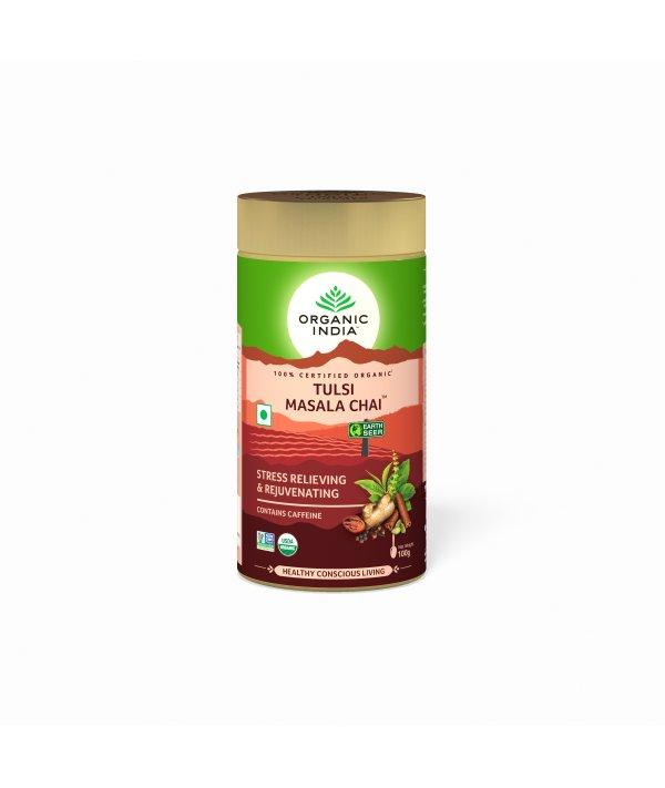 Organic India Tulsi Masala Chai Tin