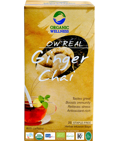 Organic Wellness Real Ginger Chai Tea