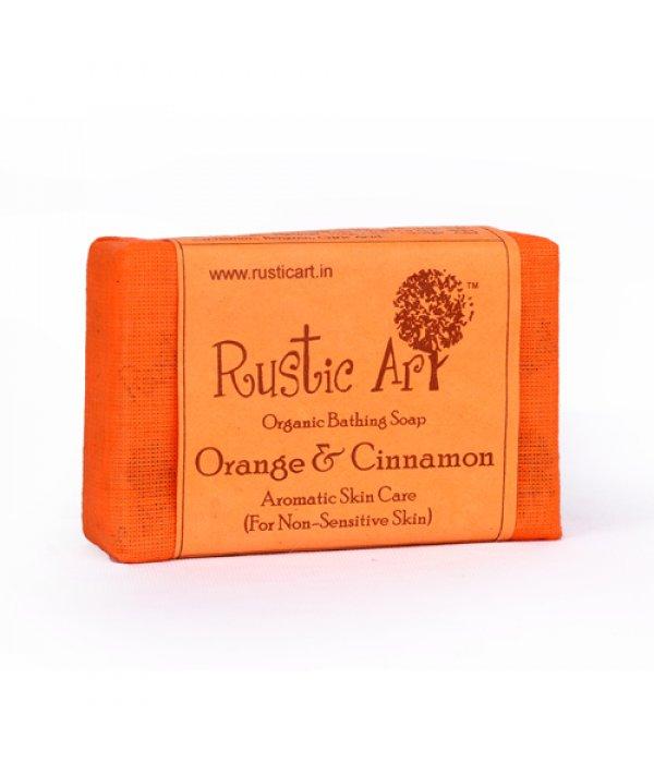 Rustic Art Organic Orange & Cinnamon Soap