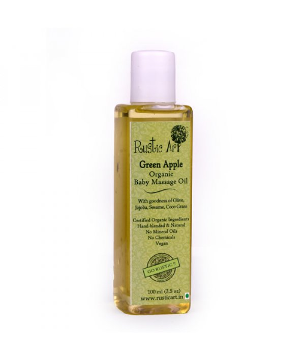 Rustic Art Organic Baby Oil Green Apple
