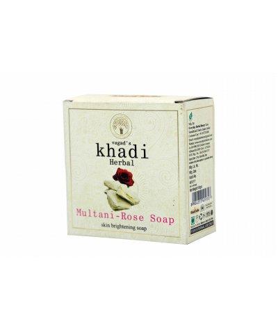 Vagad's Khadi Multani And Rose Milky Soap For Skin Brightening