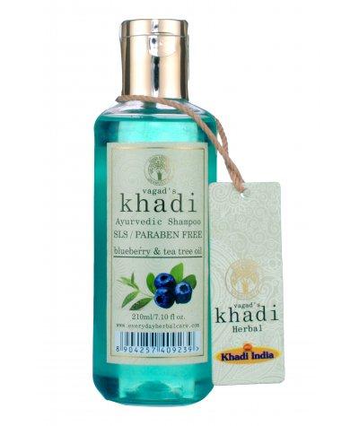 Vagad's Khadi S.L.S And Paraben Free Blueberry Extract And Tea Tree Extract Shampoo