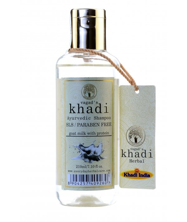 Vagad's Khadi S L S And Paraben Free Goat Milk With Protein Shampoo