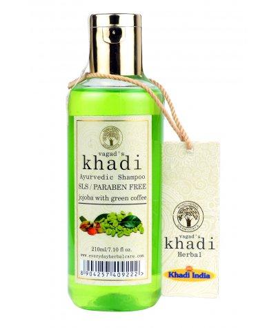 Vagad's Khadi S.L.S And Paraben Free Jojoba With Green Coffee Shampoo