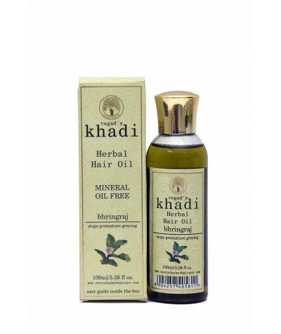 Vagad's Khadi Bhringraj Mineral Free Hair Oil