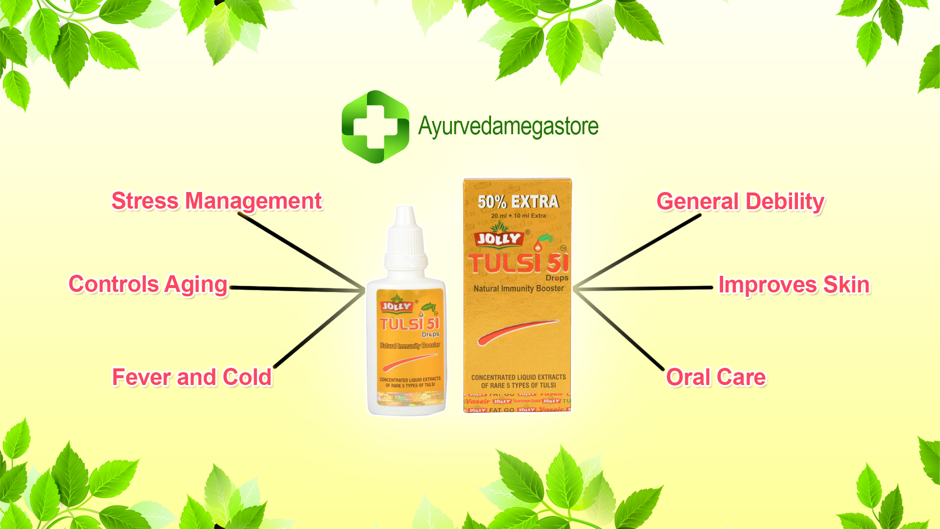 Jolly Tulsi-51 Natural Immunity Booster - The goodness of nature to boost your immunity levels
