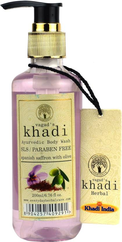 Vagad Khadi S L S And Paraben Free Spanish Saffron With Olive Body
